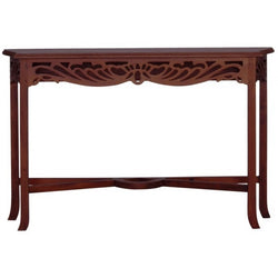 Signature French Console Table 120 cm TEK168ST 000 CV Desk ( Mahogany Colour ) ( Picture and Illustration for Reference Only )