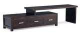Milan Extension Movable TV Console with 3 Drawers TEK168TV 003 PNM ( Chocolate Colour )