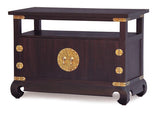 Chinese Oriental TV Console Stand 2 Door 1 Shelf  TEK168TV 200 CSN ( Chocolate Colour )