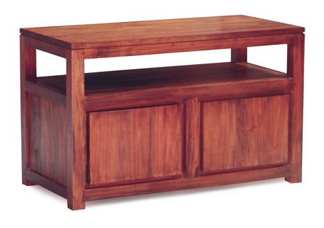 Stavoren Amsterdam TV Stand Full Solid 2 Door 1 Shelf TEK168 TV 200 TA M ( Picture and Illustration for Reference Only ) ( Light Pecan Color )