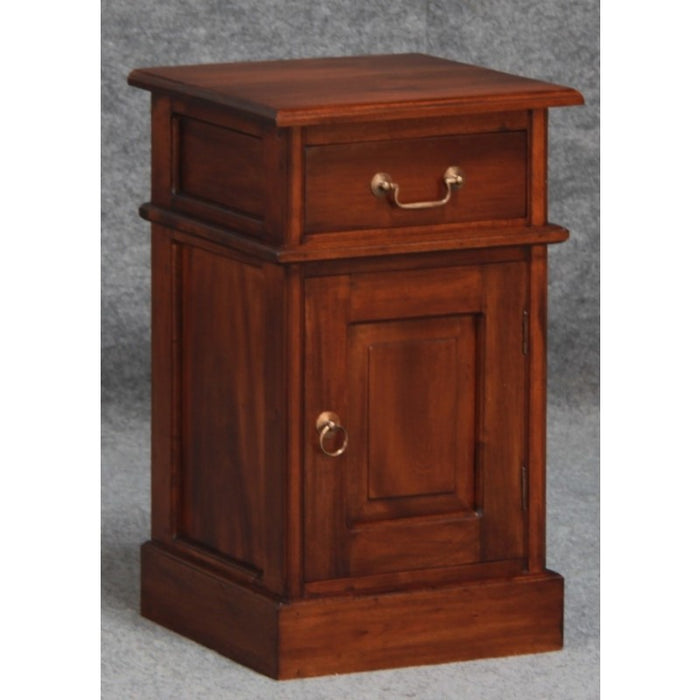 Tasmania Side Table 1 Drawer 1 Door TEK168 BS 101 PN ( Chocolate Colour )
