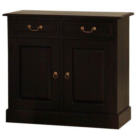 Allawah Tasmania Buffet Sideboard 2 Door 2 Drawer Solid Wood  TEK168SB 202 PN (Chocolate Color )