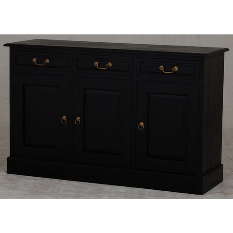 Tasmania Buffet Sideboard 3 Door 3 Drawers Solid Wood TEK168SB 303 PN ( Chocolate Colour )