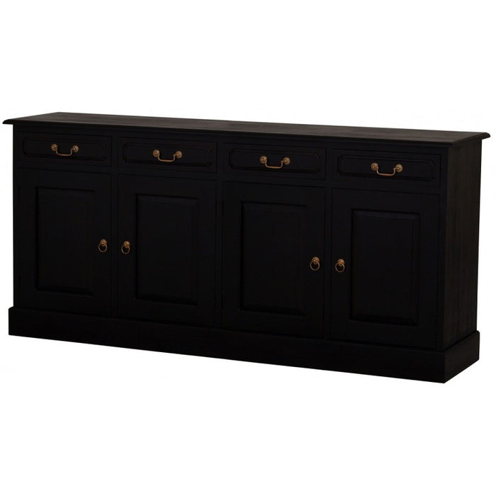 Tasmania Buffet Sideboard 4 Door 4 Drawers Solid Wood TEK168 SB 404 PN with Amsterdam Leg Design ( Special Order 12 to 16 weeks ) ( WR Two Tone Light Pecan and White Colour )