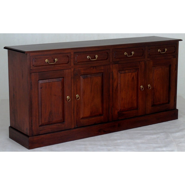 Tasmania Buffet Sideboard 4 Door 4 Drawers Solid Wood TEK168 SB 404 PN ( Mahogany Colour )