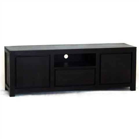 Teak TV Console Amstel Solid Timber 2 Door Single Drawer 160cm TV Unit - Chocolate TEK168SB-201-TA-C_1