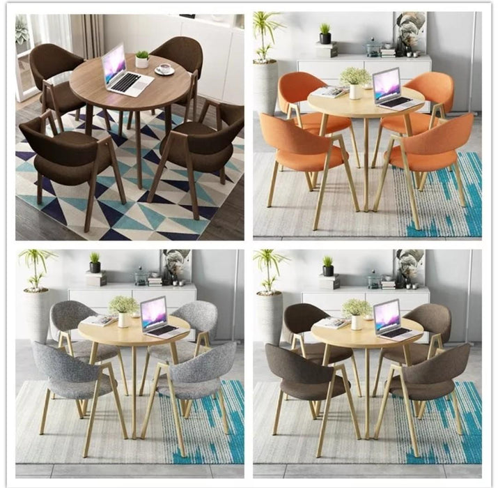 LOVA Modern Round Dining Table Set