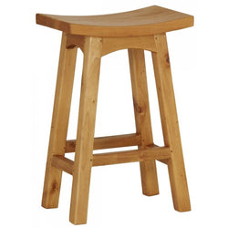 MP - Amst Solid Teak Timber 67cm Counter Bar Stool, TEK168 BR 067 WD LP ( Light Pecan Colour )