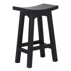 MP - Amst Solid Teak Timber 67cm Counter Bar Stool, TEK168 BR 067 WD C ( Chocolate Colour )