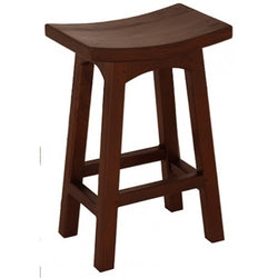 1 Member Special - Amst Solid Teak Timber 67cm Counter Bar Stool, TEK168BR-067-WD ( Chocolate Colour )