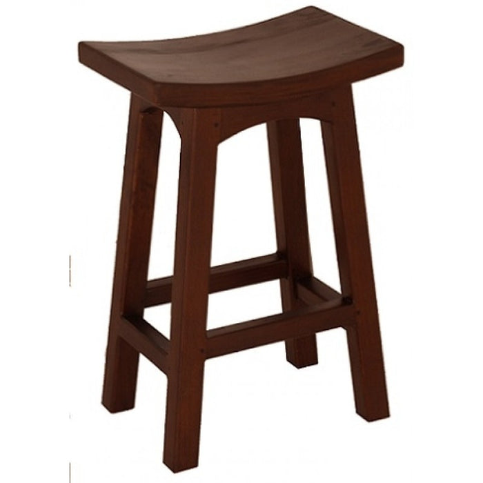 MP - Amst Solid Teak Timber 67cm Counter Bar Stool, TEK168 BR 067 WD ( Chocolate Colour )