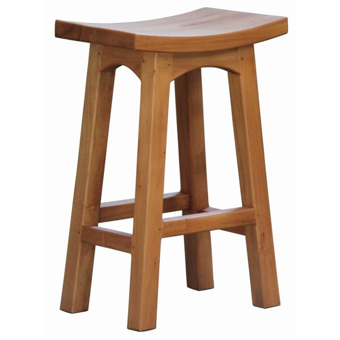 MP - Amst Solid Teak Timber 60 cm Counter Bar Stool, TEK168 BR 060 WD ( Picture Illustration Colour for Reference Only ) ( Dark Chocolate Colour )