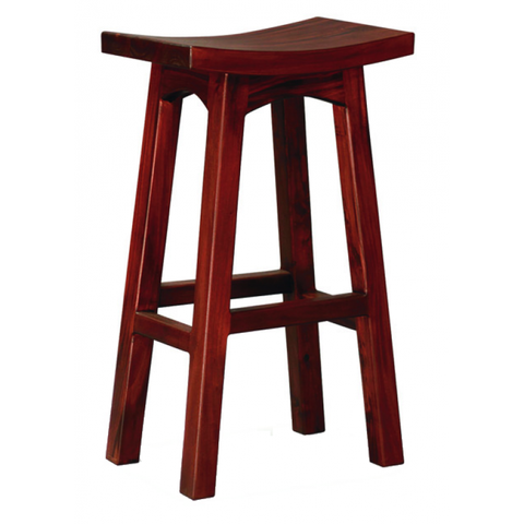 Amst Solid Teak Timber 77cm Bar Stool, Mahogany Colour TEK168 BR 077 WD M