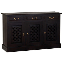 MP - New York Buffet Sideboard with Carvings 3 Door 3 Drawers TEK168SB 303 CV ( Chocolate Colour )
