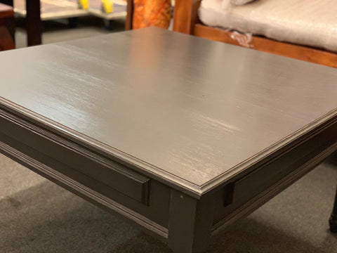 01 Member Special - PJS Coffee Table 80  x 80 x 45 cm TEK168PJS (Royal Grey Colour ) ( Original Price  $499)