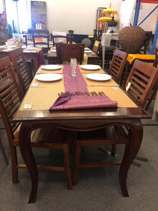 French Provincial Dining Table 160cm DT 160 85 FP TEK168 DT 160 85 FP Only   ( Picture for Reference Only ) ( Mahogany Colour )