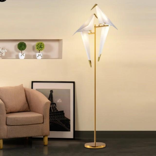LILY Zen Perched Lovebirds LED Origami Standing Lamp