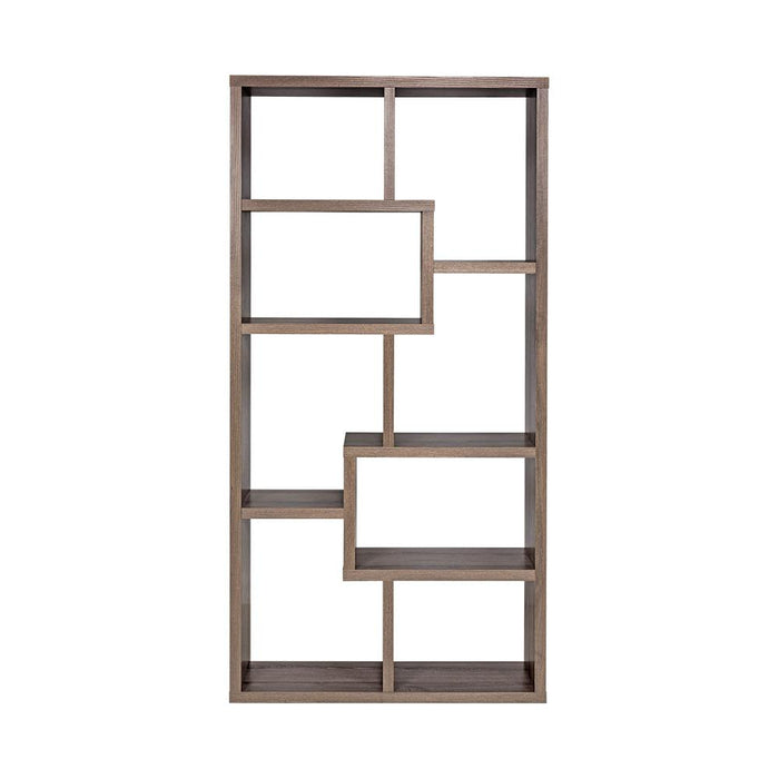 Coro Bookcase Divider Display Shelf Book Cabinet TEK168-36047DWE ( Dark Taupe )
