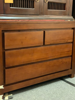 Holla Amsterdam 4 Drawer Chest of Drawers Commode 70cm H x 100cm W x 50cm D TEK168 TB 004 TA M ( Natural Colour )