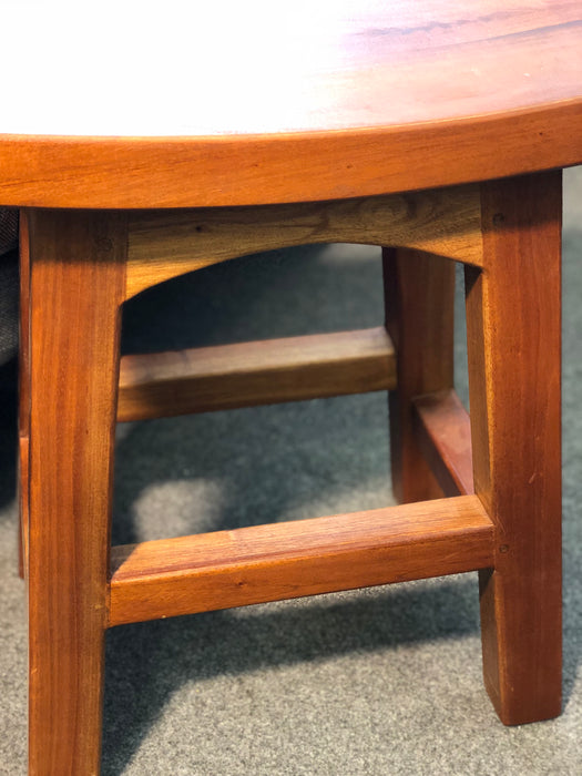 MP - Amst Solid Teak Timber Table 48cm Bar Stool, Light Pecan TEK168 BR 048 WD LP 1