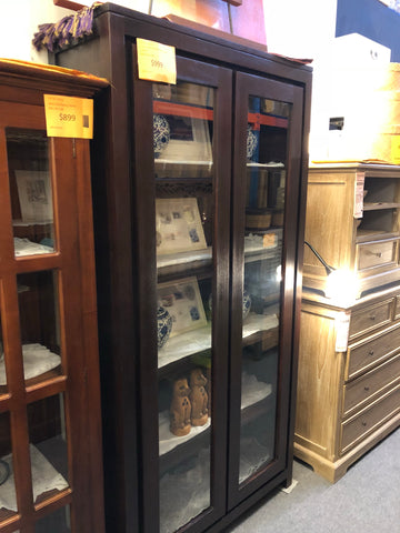 3.3 FireSale Member Special - Amsterdam Glass Display 2 Door TEK168DC 200 TA ( Light Pecan Colour )