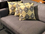 Scandinavian Sofa 3 Seater Euro Fabric Minimalist Grey Washable Covers