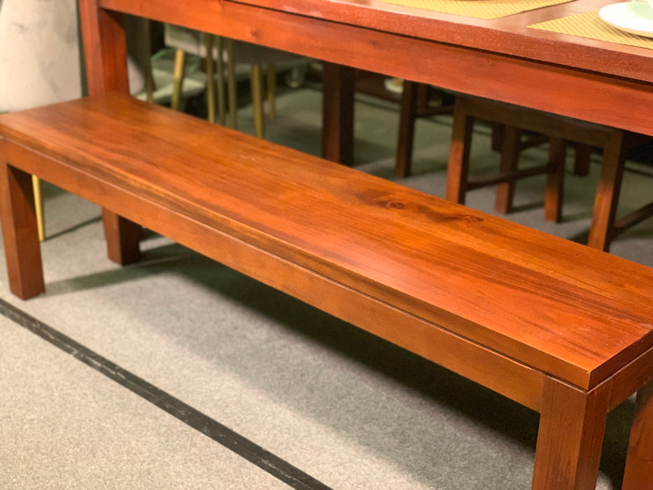 MP - Amsterdam Dining Bench 90 cm Full Solid TEK168 DT 90 cm Bench RPN ( Picture for Reference Only ) ( Light Pecan Color )