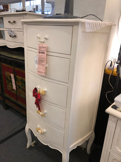 01 Member Special - PJS Chest 5 DR APOLLINE Chest of 5 Drawers Cabinet Commode  130 x 65 x 46 cm TEK168PJS APO4M BOX0 CA.L2 ( Royal White Colour )