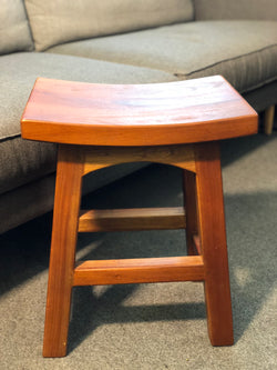 MP - Amst Solid Teak Timber Table 48 cm Bar Stool, TEK168 BR 048 WD LP Light Pecan