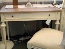 01 Member Special - PJS Writing Desk Marquetterie PERLES 1 Drawer Table Console Table 77 x 100 x 50 cm TEK168PJS PRL 5V.M ( AR)/M BOX0 B-CA.L2/PG2 ( Two Tone Natural and Royal White Colour )