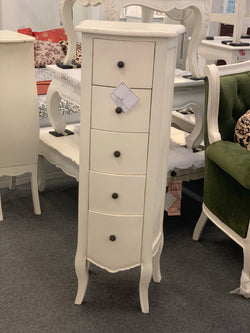 01 Member Special -  PJS  Chest of Drawers Narrow TEK168 EDE20M CA L2 Chest 5 Dr Edelweiss without scuplture Size 41 x 115 x 30 cm