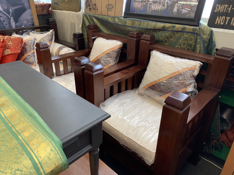 MP - Bali Daybed Sofa Bed Set 200 cm with Free Mattress Free Cushion  TEK168 DB 6603 CV 200cm with Bali Sofa 1 Seater x 2 Piece  ( Picture for Reference Only ) ( Chocolate Colour )