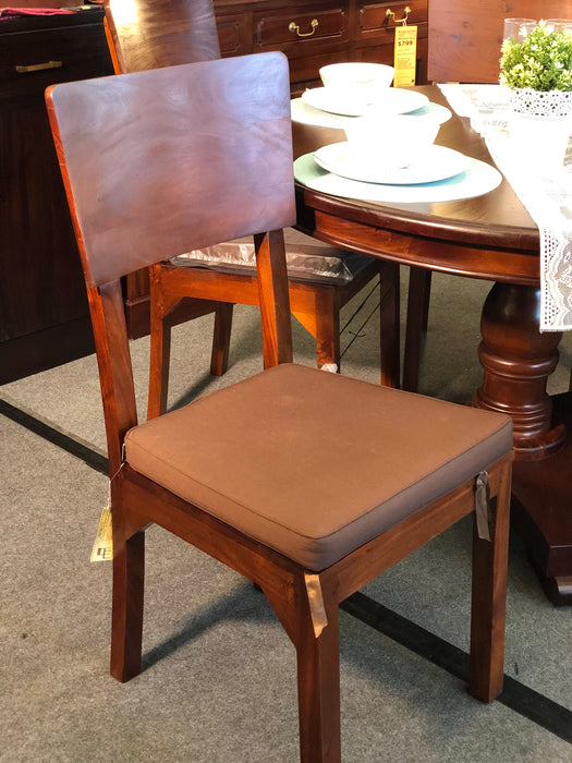 MP - Somerton Dining Chair ONLY with Cushion Set of 6 Piece ( Package Special ) TEK168 CH 000 SMT ( Light Pecan Colour ) ( Picture for Reference Only )