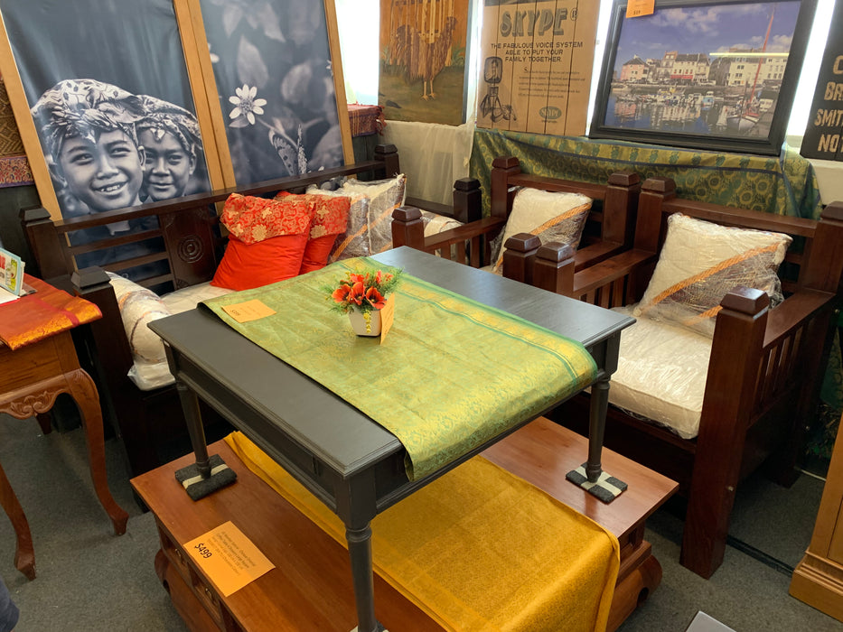 MP - Bali Sofa 3 + 1 + 1 Set . Free Mattress, Cushion TEK168 DB 6603 CV SF 3 ( 165 65 95 ) plus CT 000 TA Coffee Table ( Picture for Reference Only ) ( Straight Armrest  ) ( Chocolate  Colour )