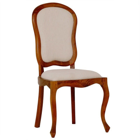 01 Member Special - Queen AnnMary Solid Timber Dining Chair 6 Piece Package Set ( 4 Non Armchair 2 Arm Chair Special ) - TEK168CH-54-56-QA-DC ( Picture Illustration Colour for Reference Only ) ( Mahogany Colour )