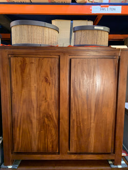 01 Member Special - Amsterdam Buffet Sideboard 2 Door 122cm Solid Wood  TEK168SB 200 TA ( Picture Illustration Colour for Reference Only ) ( Light Pecan Color )