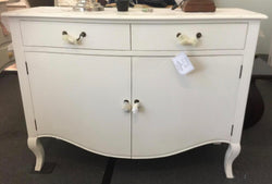 01 Member Special - PJS  Sideboard 2 Do / 2 Dr CANDICE Chest of Drawers Cupboard 2 Drawers 2 Door Cabinet Size  89 x 117 x 44 cm TEK168PJS CAN14M BOX0 CA.L2 ( Royal White Colour )