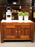 Tasmania Cabinet Buffet Small Sideboard 2 Door Shoe Rack Solid Wood Royal Full Wood  TEK168SR 200 PN ( Mahogany Colour )
