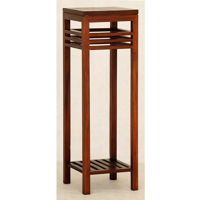 Holland Tall Plant Stand Telephone Table Lamp TEK168 PS 000 HSR FL (Mahogany Colour )