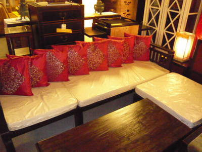 Nusa Dua Daybed Sofa Bed L Shape Sofa with Free Mattress and  Movable Ottoman TEK168MOMX 8004 CV