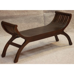 Signature Bench 2 Seater YuYu Chair TEK168 CH 002 TW ( Chocolate Colour )