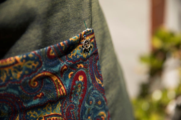 Green Paisley Work Apron