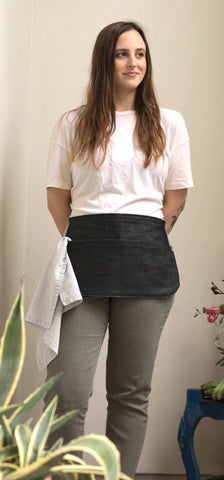 Black Denim Cocktail Apron