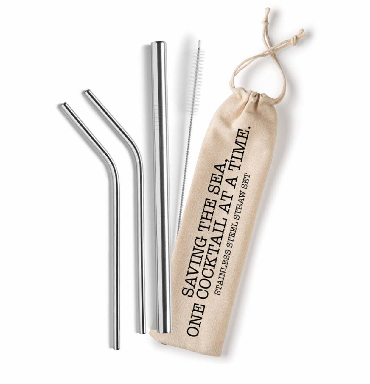 Saving the Sea - One Cocktail at a Time - Reusable Straw Set