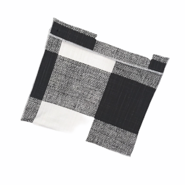 Reusable Snack Bag Medium Size / Black and White Buffalo Check