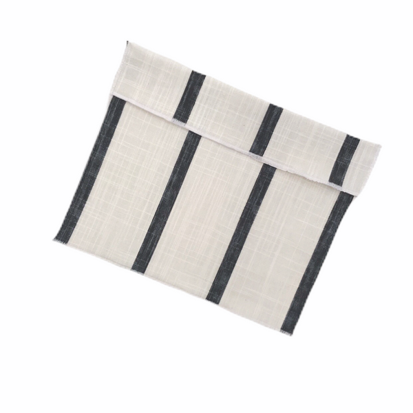Medium Size Reusable Snack Bag / Black Stripe