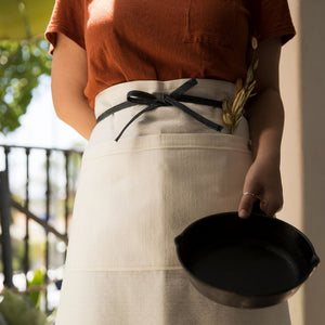 White Canvas Bistro Long Apron