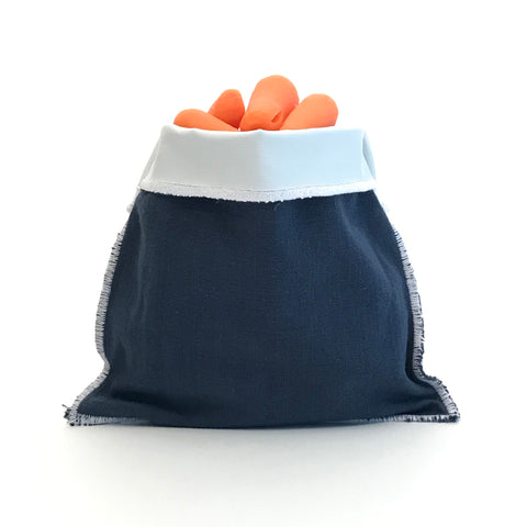 Handmade Reusable Snack Bag - Solid Navy