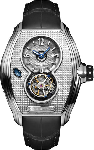 Memorigin Bourbon Series Tourbillon Silver Leather Strap 4894379500447