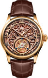 Memorigin Orbit Series - Skeleton Lady Watch Gold